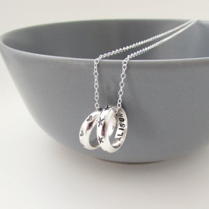 Image of Hearts and Stars Circle Necklace