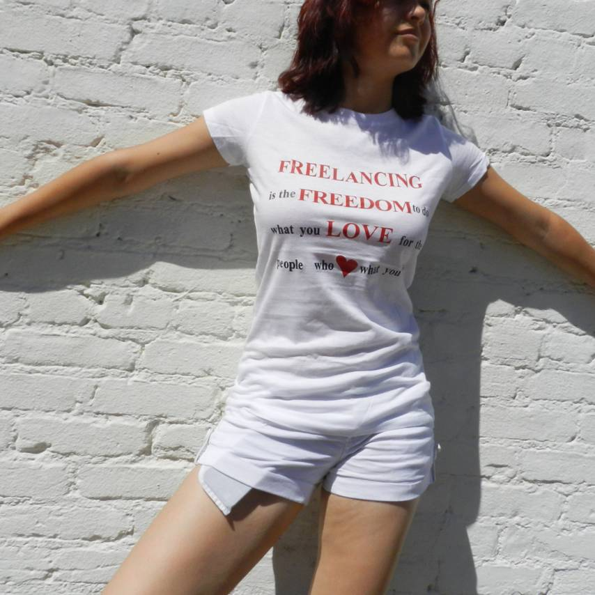 Image of 'Freelancing is Freedom' T-Shirt