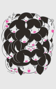 Image of Girly Heads Print