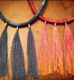 Image of Trinity fringe necklace