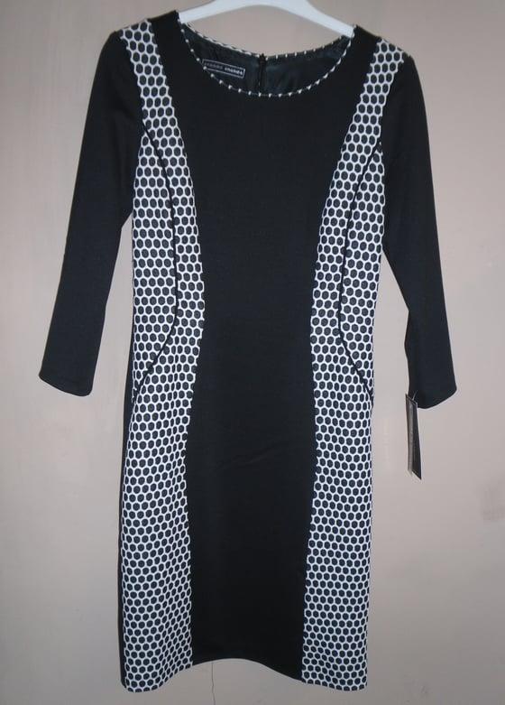Image of Arggido Black & White Spot Dress