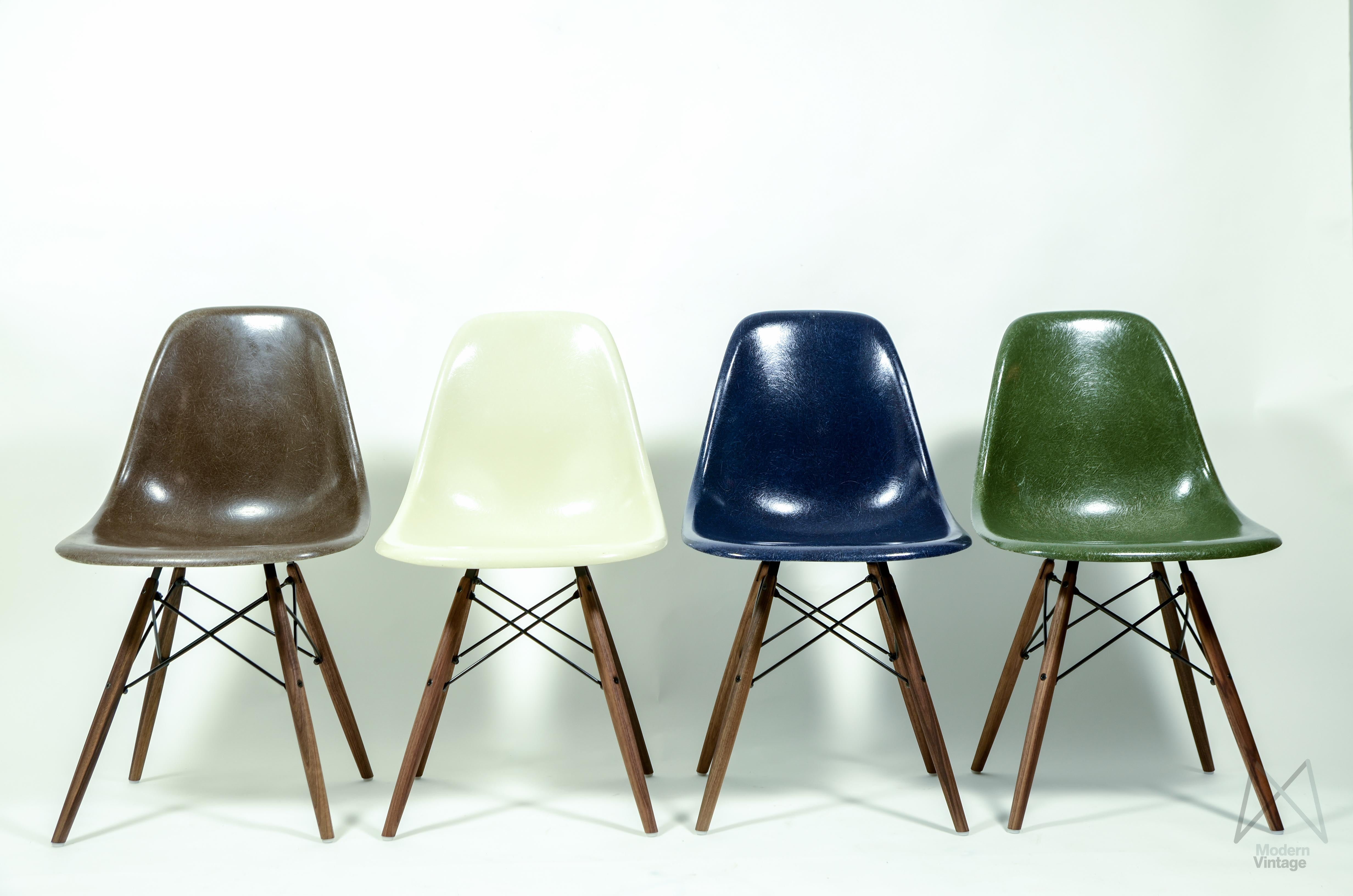 Image of Eames Original Herman Miller Fiberglass DSW Chair Different Colors : old herman miller chairs - Cheerinfomania.Com