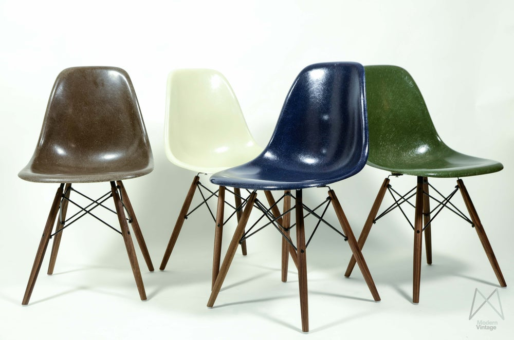 Image Of Eames Original Herman Miller Fiberglass Dsw Chair Diffe Colors
