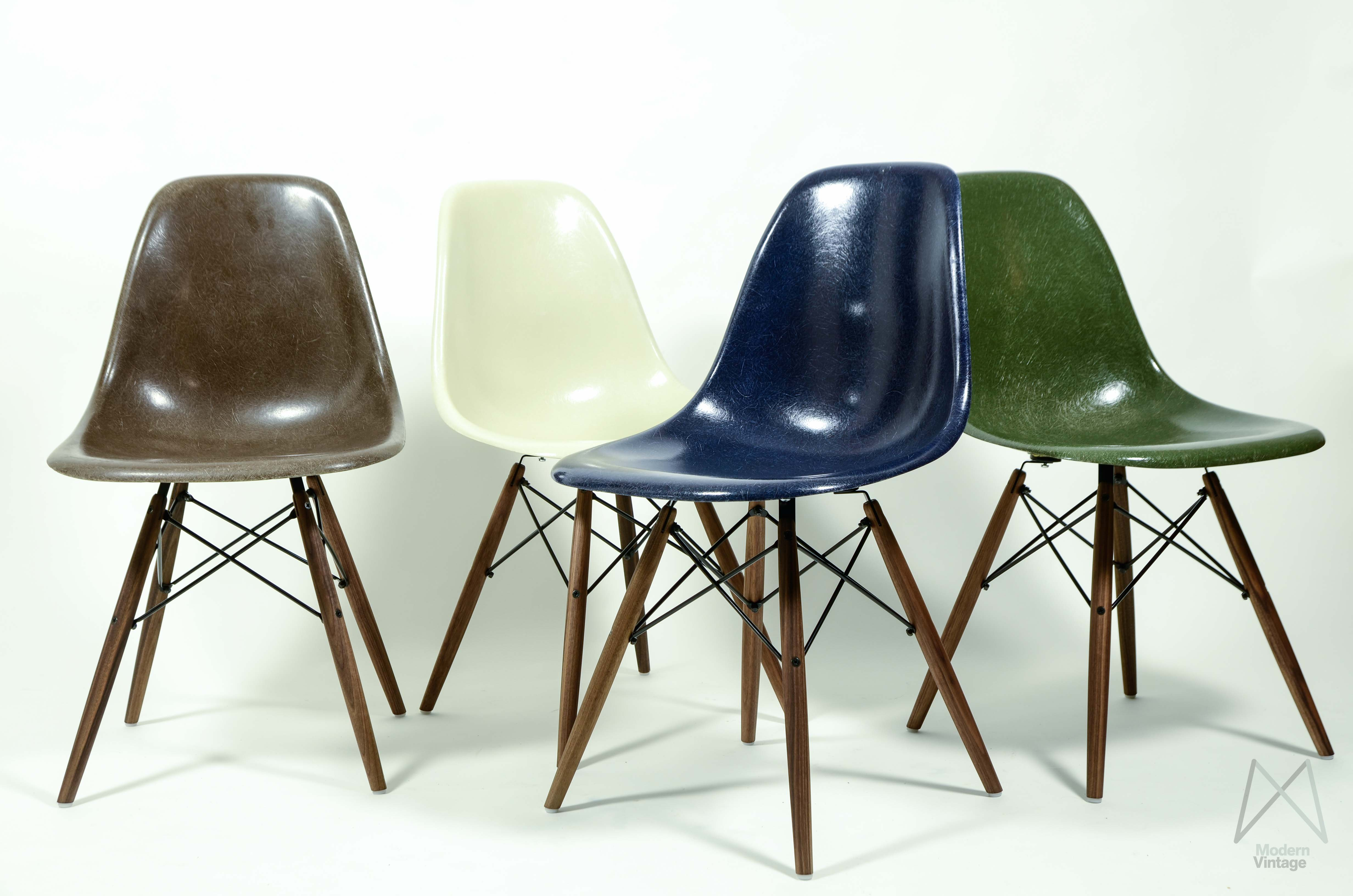 Charmant Image Of Eames Original Herman Miller Fiberglass DSW Chair Different Colors  ...