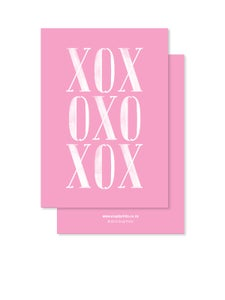Image of Greeting Card - XOX - Pink