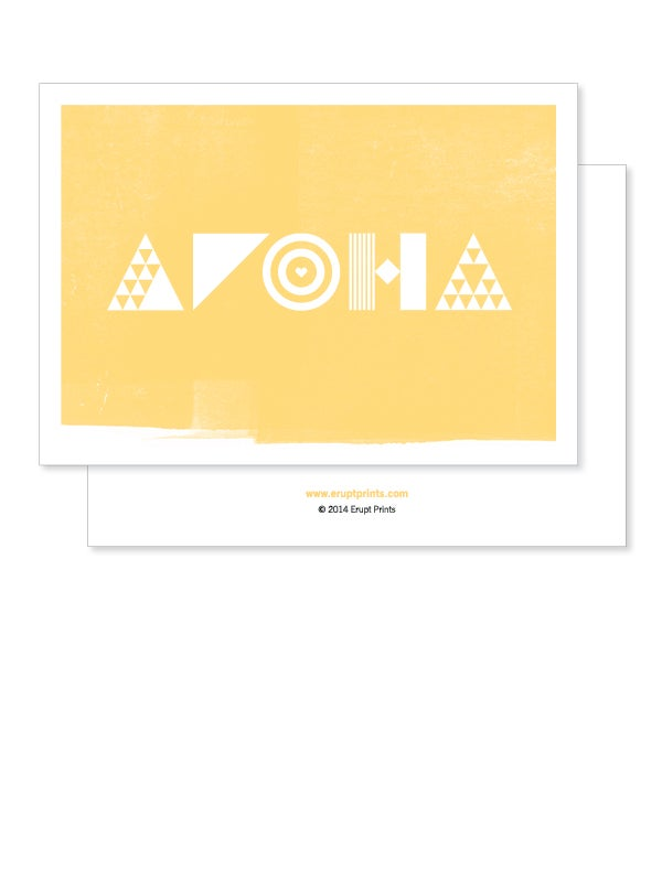 Image of Greeting Card - Aroha - Yellow