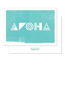 Image of Greeting Card - Aroha - Teal