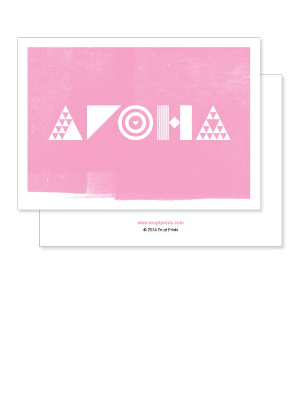 Image of Greeting Card - Aroha - Pink
