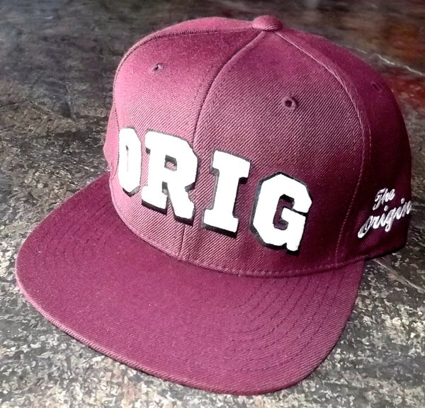 Image of OG 'VARS' SNAP-BACK (BURGUNDY)