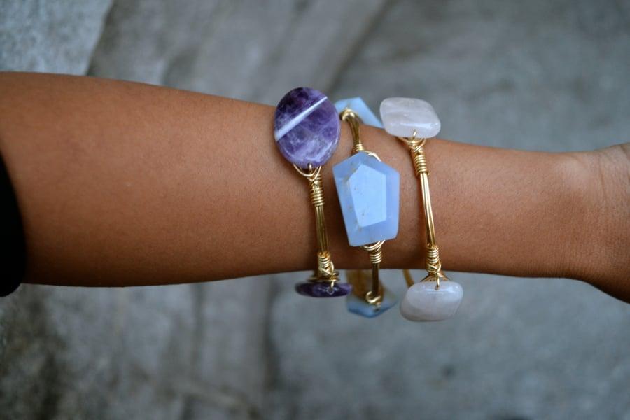 Image of Blue Chalcedony bangle
