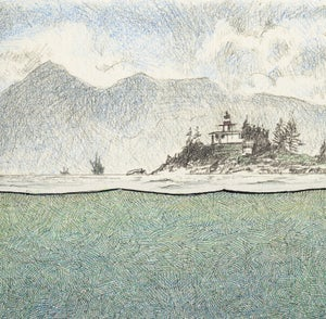 "Image of Guard Island Light 13"" X 16"""