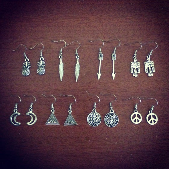 Image of Mini charm earrings