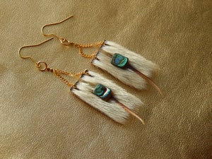 Image of Walrus Whisker and Sealskin Earrings