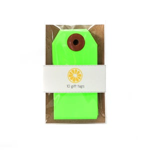 Image of Neon Green Gift Tags