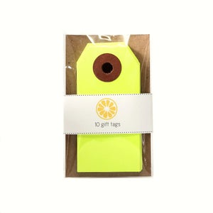 Image of Neon Yellow Gift tags