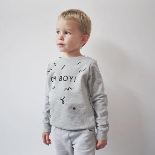 Image of OH BOY sweatshirt heather grey