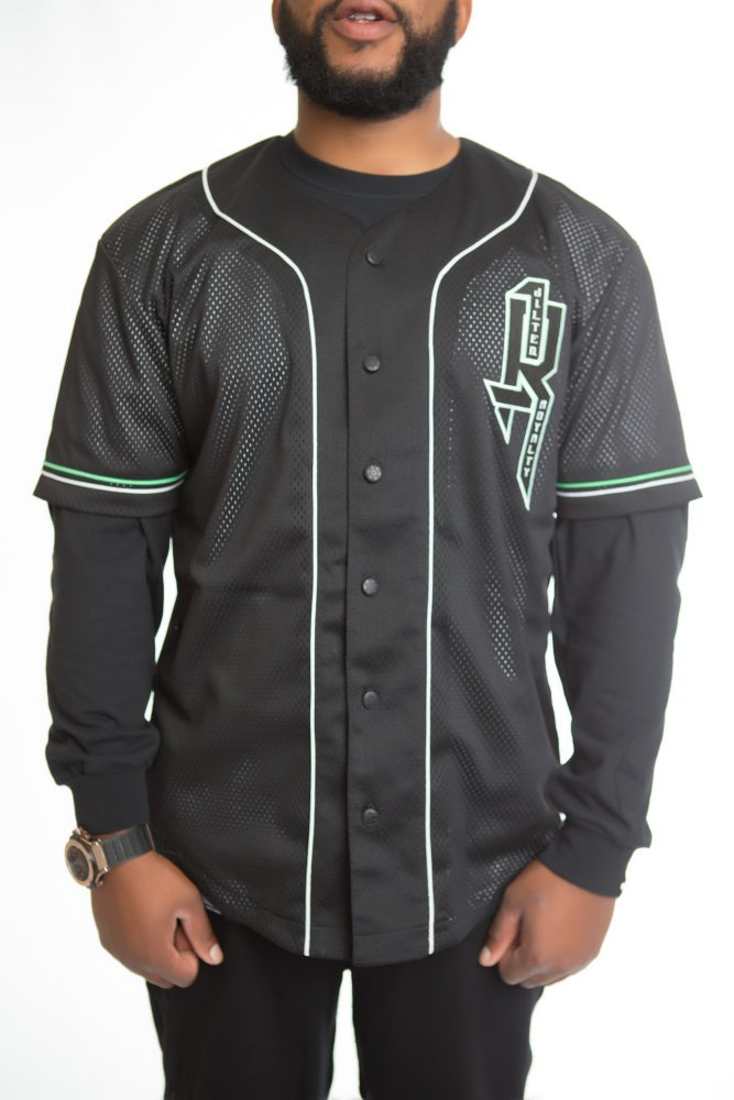 Image of LIFE IN PIECES BASEBALL JERSEY
