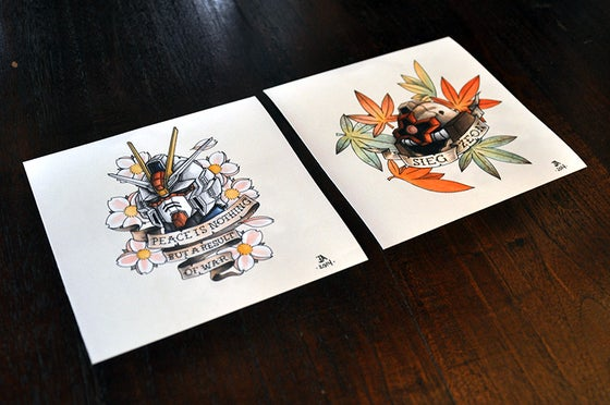 Image of Gundam & Ink Prints