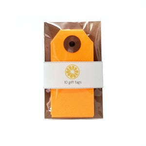Image of Neon Orange Gift Tags