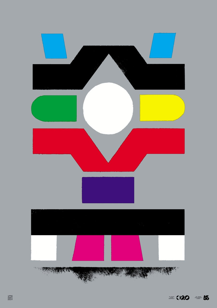 Image of Büro Destruct - Tribler Testbild (Poster)