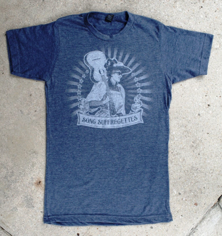 Image of Song Suffragettes - Heather Navy T-shirt