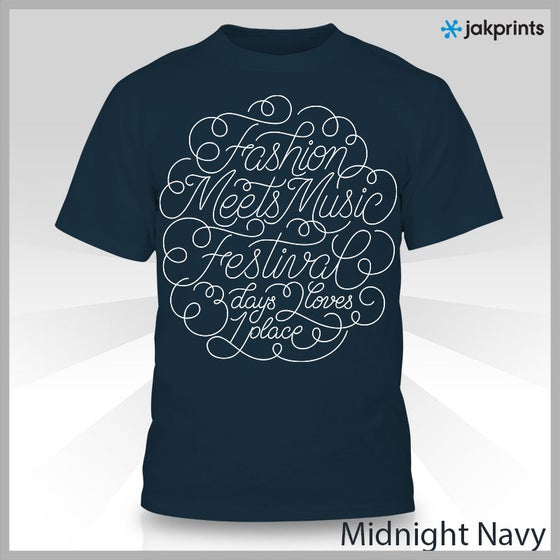 Image of Navy FMMF Swirl Shirt