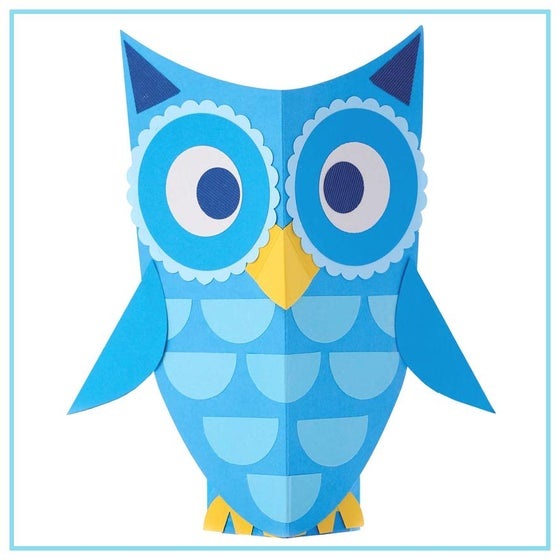 Image of Crafty Stories Craft Kit Blue Owls