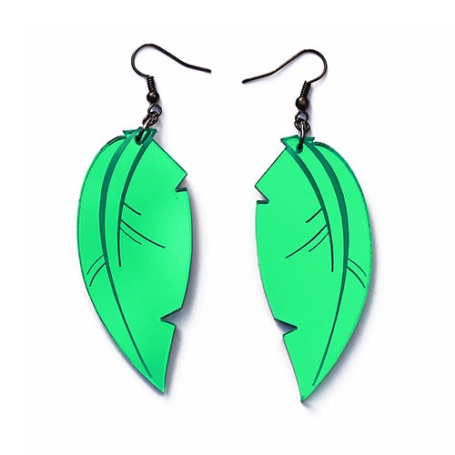Image of Tropical Leaf Earrings