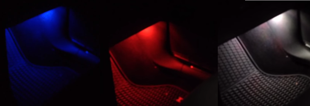 Image of Single Color Footwell LEDs Red / Blue / White Fits: MK7 Volkswagen GTI / Golf /  GSW / ALLTRACK