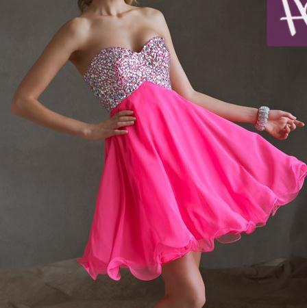 Image of SHINING RHINSTONE CUTE DRESS FOR GIRLS