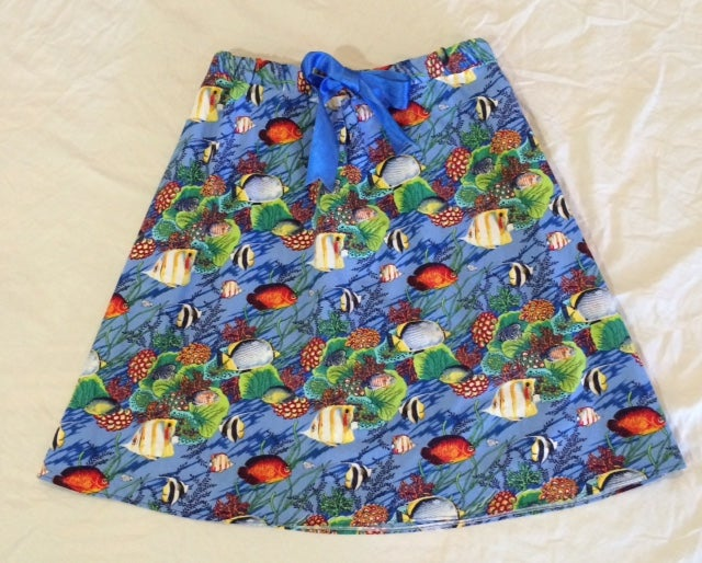 Image of Great Barrier Reef A-Line Skirt