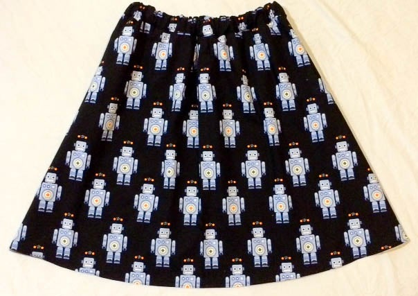 Image of Marvin the Robot A-Line Skirt