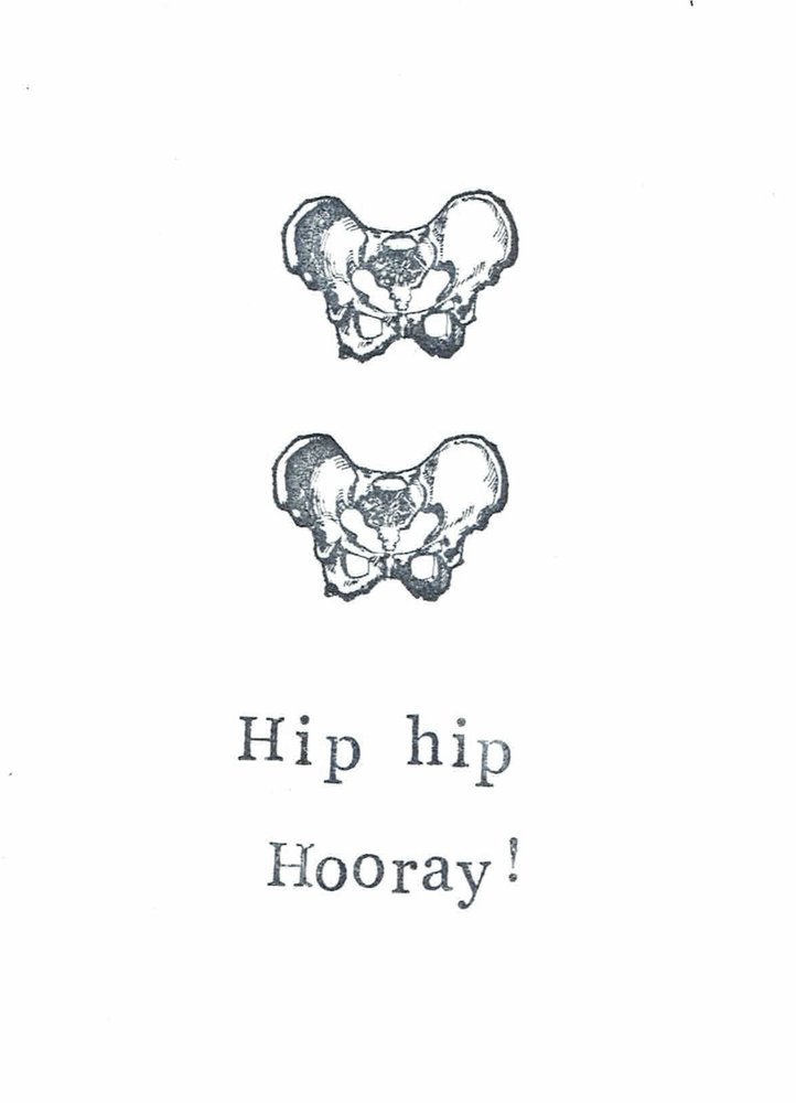 Image of Hip Hip Hooray Funny Medical Humor Card Doctor Nurse Graduation Congraulations Gothic Pun