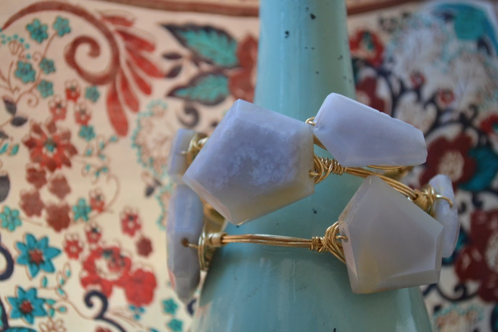 Image of Blue Chalcedony bangle