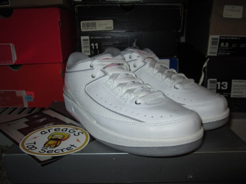the best attitude fa2a9 dadc7 ... greece air jordan ii 2 retro low white pink gs areags kids size only  dd386 ba9fe