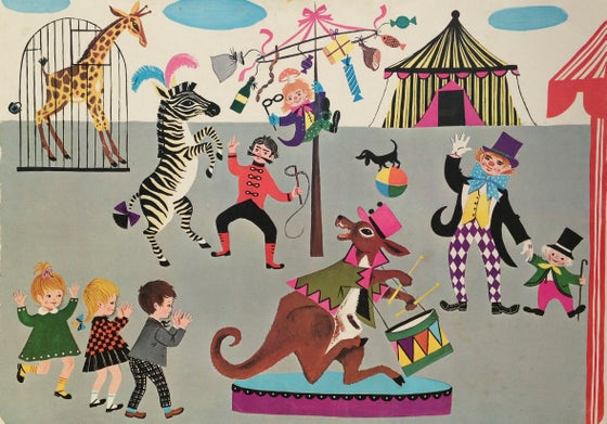 Image of Retro School Poster - Circus Animals 1966