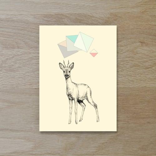 Image of Carte postale simple Chevreuil