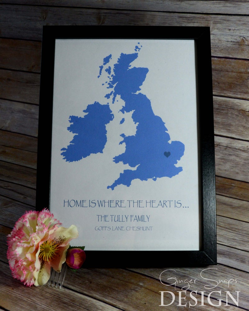 Image of Home is where the heart is - Personalised print