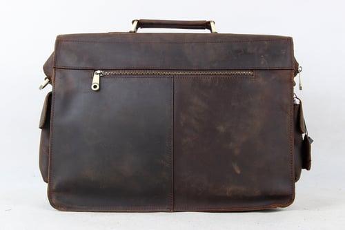 Image of 14'' Vintage Genuine Leather Briefcase, Messenger Bag, Laptop Bag 7200