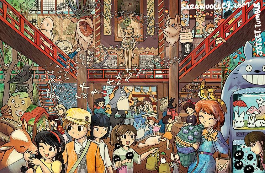 Image of Ghibli Petshop Poster