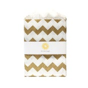 Image of Mini Gold Chevron Bags