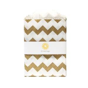 Image of Mini Gold Chevron Bags
