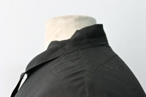 Image of 1910's FRENCH DARK INDIGO LINEN MAQUIGNON COAT/ BIAUDE