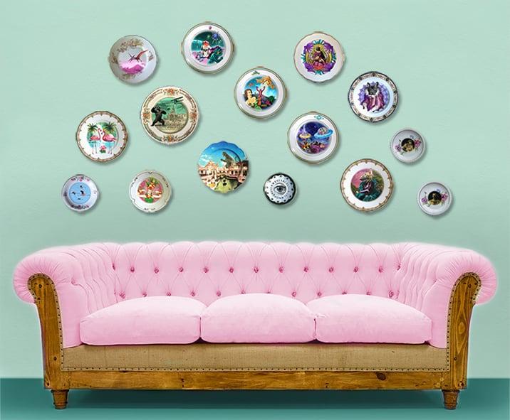 Image of La Duquesa - Vintage Porcelain Plate - #0442