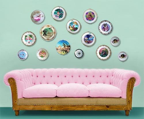 Image of La Duquesa - Vintage Porcelain Plate - #0660