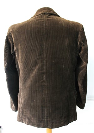 Image of 1940'S FRENCH HUNTING BROWN CORDUROY JACKET