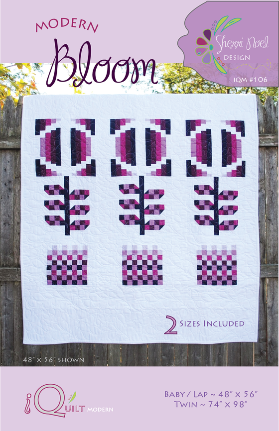 Image of Modern Bloom Quilt ~ PDF Pattern