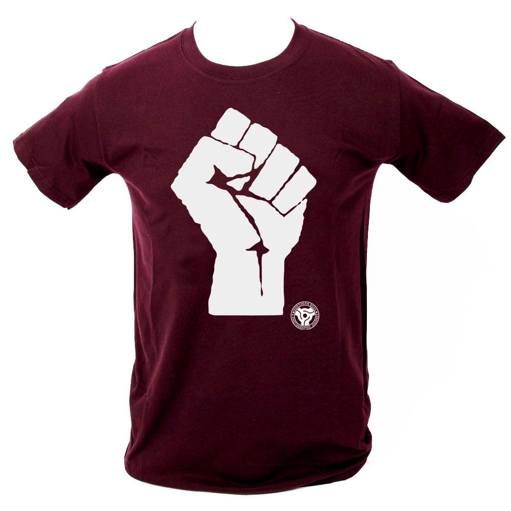 Image of 'Soul Fist' T-Shirt. MAROON
