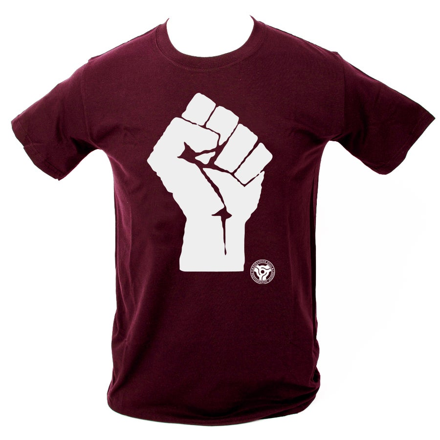 Image of 'Soul Fist' T-Shirt. MAROON