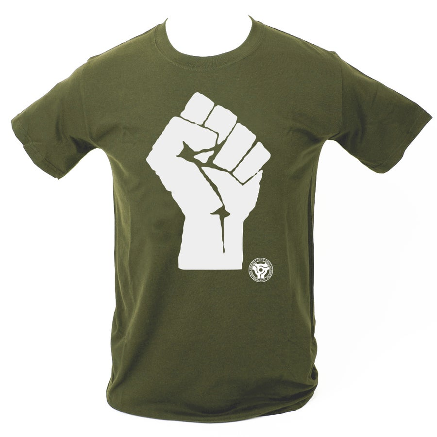 Image of 'Soul Fist' T-Shirt. MILITARY GREEN